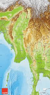 India Physical Map by Physical Map Of Burma