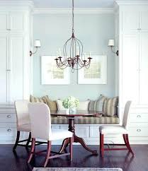 dining room with banquette seating chic dining room banquette seating greige monochromatic chic dining