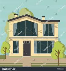 beautiful family house apartment banner on stock vector 354187265
