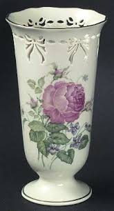 Lenox Vase With Rose Lenox Victorian Rose Collection At Replacements Ltd