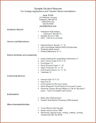 college resume template high school academic resume template