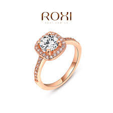Rose Gold Wedding Rings For Women by Rose Gold Plated Ring Ebay
