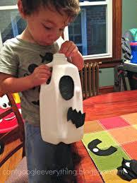 milk jug ghost toddler activity my mini adventurer