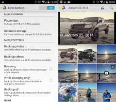 automatically backup photos on android