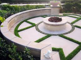 creative ideas of rock fire pit with beauty place and concept of