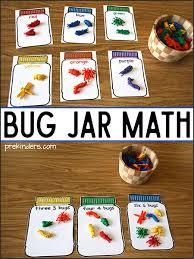 bug jar math printables prekinders