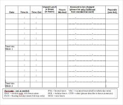 Bi Weekly Timesheet Template Excel 12 Bi Weekly Timesheet Templates Free Sle Exle Format