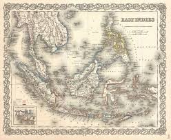 Vintage Map South East Asia Vintage Map Stock Photo Picture And Royalty Free