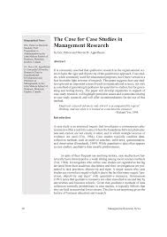 the case for case studies in management research pdf download