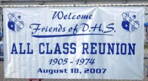high school reunion banner class reunion banners welcome banner from august 18 reunion