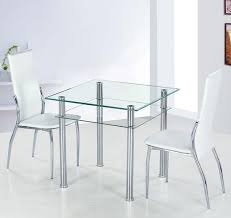 small glass kitchen table small glass dining table set on luxury round clear and 4 faux chairs