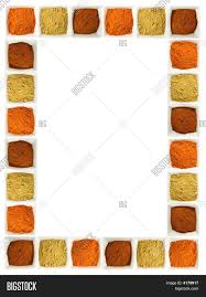 colorful spices food page border stock photo u0026 stock images bigstock