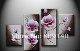 decorative artwork for homes free shipping flower oil painting canvas abstract decorative artwork