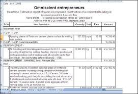 estimating home building costs spreadsheet templates home building cost spreadsheet building