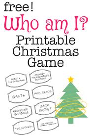 printable christmas game who am i printable christmas games