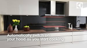hob2hood connect chimney electrolux hob cooker hood youtube