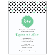 polka dot invitations retro dots mint wedding invites paperstyle