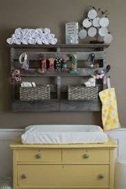 Changing Table Shelf Baby Nursery Decor Solidwood Material Baby Nursery Storage Ideas