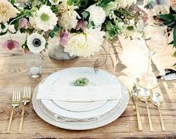 wedding plate settings 20 wedding place settings with flower greens herb accents mon