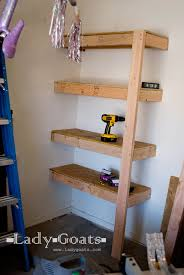 Building Wood Shelves 2x4 by Lady Goats Build It