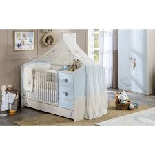 chambre bébé moderne bébé moderne coloris blanc et bleu