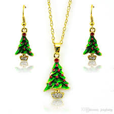 new arrival fashion jewelry sets gold plated white rhinestone