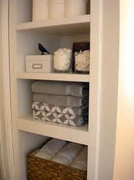 bathroom closet shelving ideas small linen closet shelving ideas