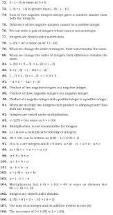 class 7 important questions for maths u2013 integers aglasem schools