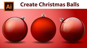 christmas balls illustrator tutorial how to create christmas balls