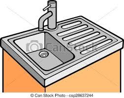 dessin evier cuisine sombrer cuisine vecteur eps rechercher des clip