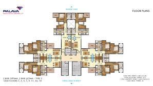 2bhk Plan by Lakeshore Greens Layout And Floor Plan Lodha Palava