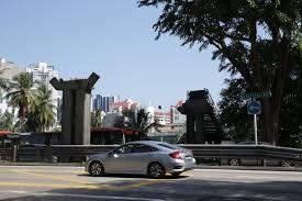 balestier road pedestrian bridge removed after accident left it in