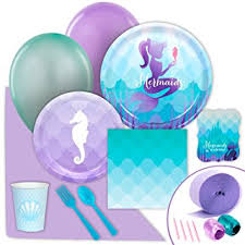 mermaid party supplies mermaids the sea party supplies value party