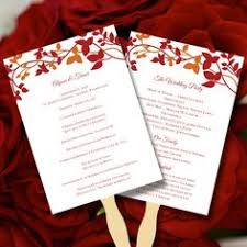 make your own wedding fan programs wedding fan program template instantly edit your text