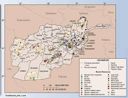 Resource Map Afghanistan Mineral Resource Map Thenewslink Com