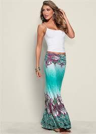 maxi skirt mint multi printed maxi skirt venus