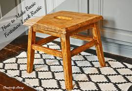 How To Make Bar Stools How To Make Your Basic Furniture Look Rustic Creatively Living Blog