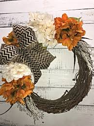 decorative wreaths for the home fall wreath fall hydrangeas wreath for front door fall door
