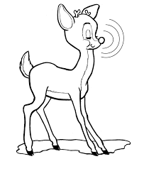 draw rudolph red nosed reindeer coloring