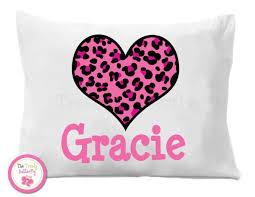 personalized pillow personalized pillowcase leopard pillow cheetah pillow