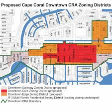 Map Of Cape Coral Florida by Cape Coral Downtown Master Plan