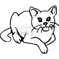 royalty free black and white house cat laying down 131021 vector