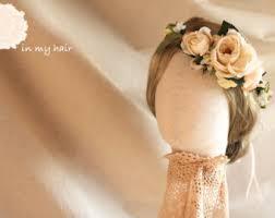 hair wreath flower hair wreath etsy