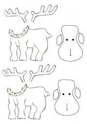 worksheet reindeer arts crafts