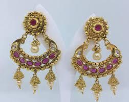 chandbali earrings chandbali etsy