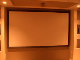 How To Hang A Projector Screen From A Drop Ceiling by Diy Home Theater Screen In 10 Steps 13 Steps