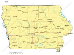 iowa map with cities iowa powerpoint map counties major cities and major highways