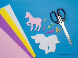 unicorn craft from foam sheets cute unicorn magnet ayelet keshet