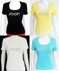 designer t shirt damen authentisch joop damen t shirt neu u ausschnitt xs s l xl sommer