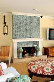 mosaic tile fireplace surround glass how to install around design